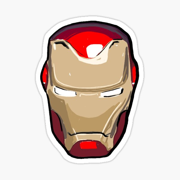 Sarcastic Superhero Helmet  Sticker