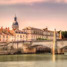 Bridge Over The Rhone River, France by Kay Brewer