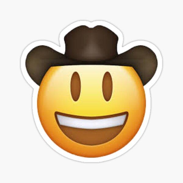 Cowboy emoji yeehaw Sticker