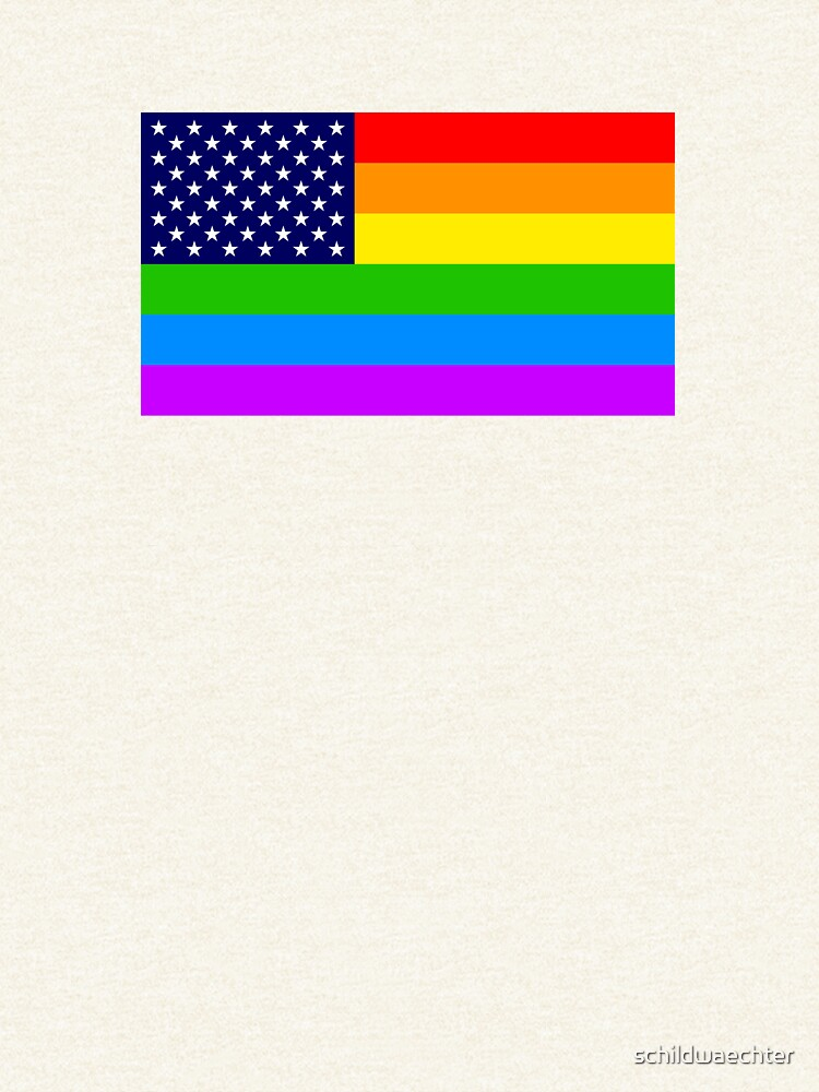 Gay USA Rainbow Flag - American LGBT Stars and Stripes von schildwaechter