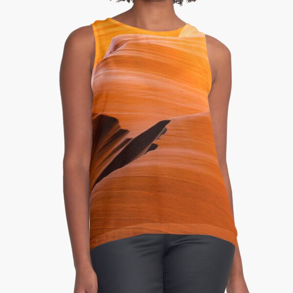 Burnt Orange Sleeveless Top
