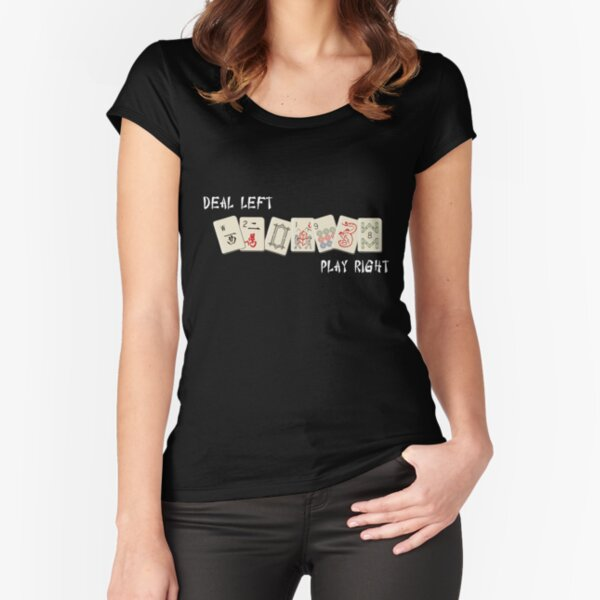 Mahjongg Time! Fitted Scoop T-Shirt