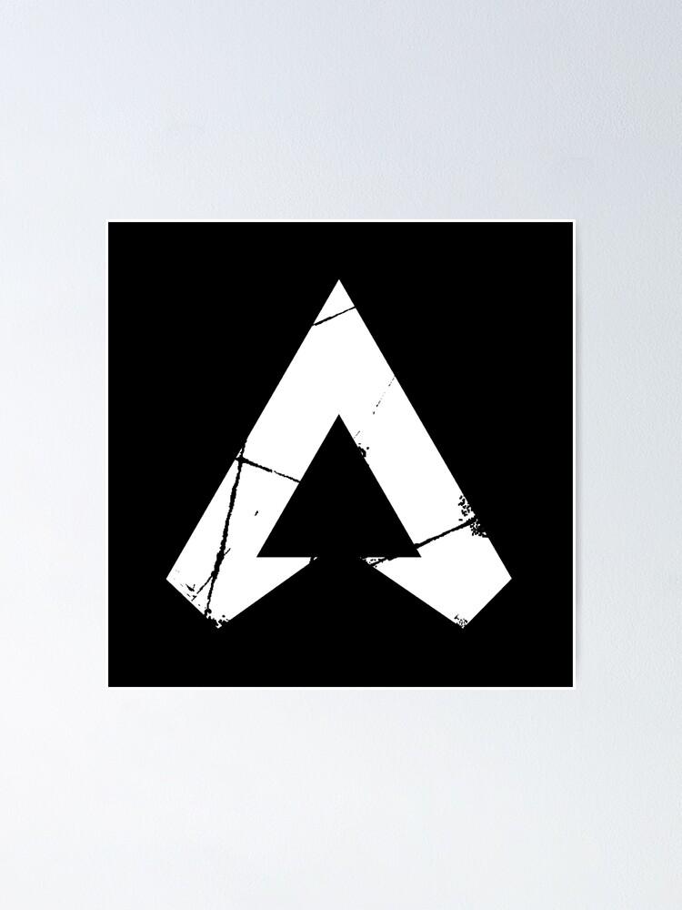 """Apex Legends Logo | Apex Legends White Symbol"" Poster by ..."