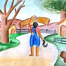 Indian working lady by tanmay