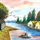 Indian village by tanmay