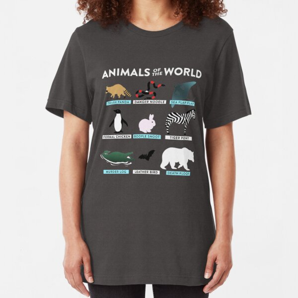 Animals Of The World  Slim Fit T-Shirt