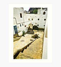 Mojacar in White - Almeria Art Print