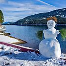 Snow Person at Donner Lake by Maurine Huang