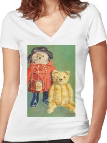 Teddy Bears with Attitude 2 Women's Fitted V-Neck T-Shirt