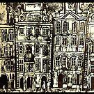 Old Prague in inky style by jennyjeffries