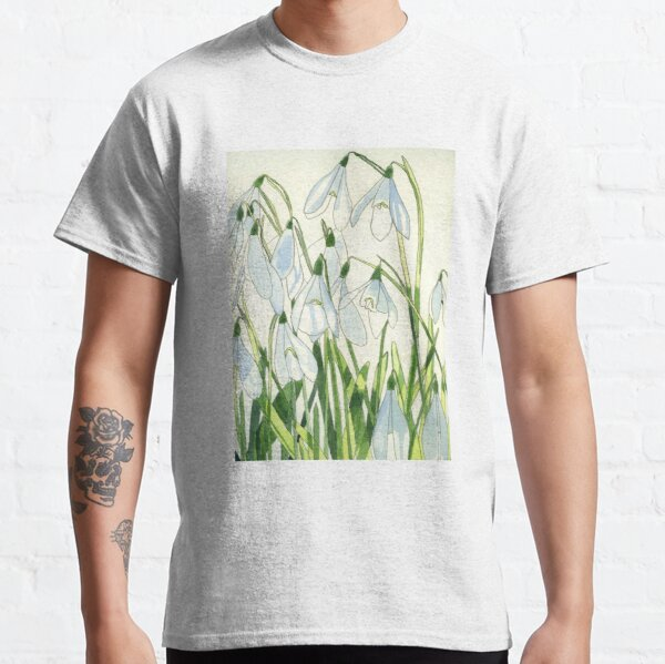 Snowdrops watercolour painting Classic T-Shirt