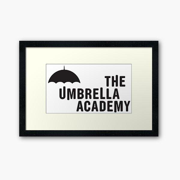 The Umbrella Academy - Logo con líneas Lámina enmarcada