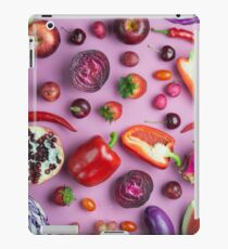 Red food on pink iPad Case/Skin