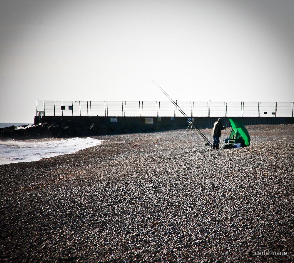 winter fishing by carla-marie