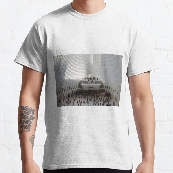 #architecture #indoors #group #business modern airport ceiling crowd city Classic T-Shirt