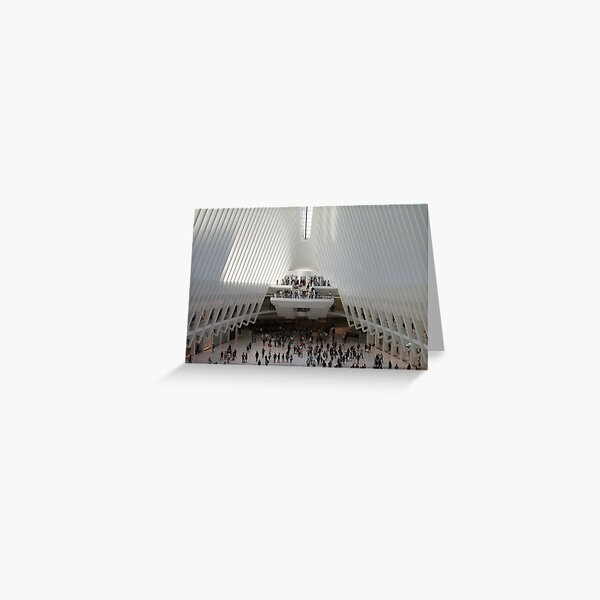 #architecture #indoors #group #business modern airport ceiling crowd city Greeting Card