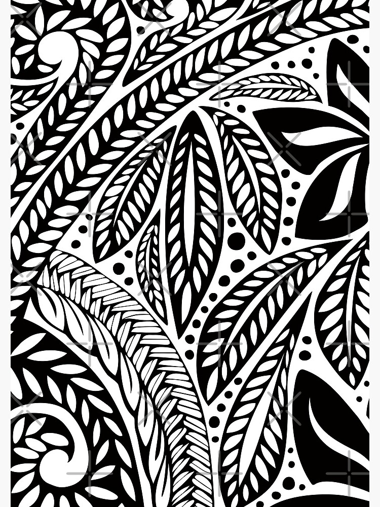 65d365c6b Black Polynesian flower floral tattoo design over white background by  AyeletF