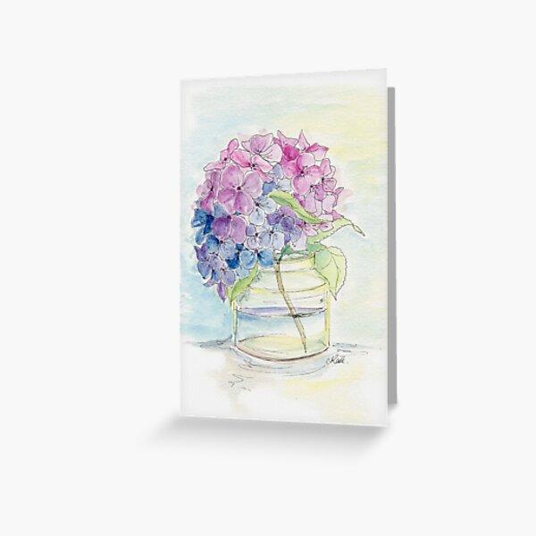 Hydrangea, Still Life Greeting Card