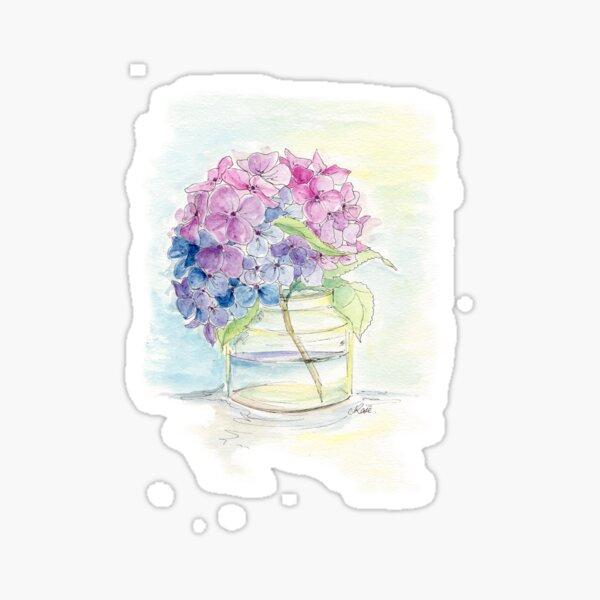Hydrangea, Still Life Sticker