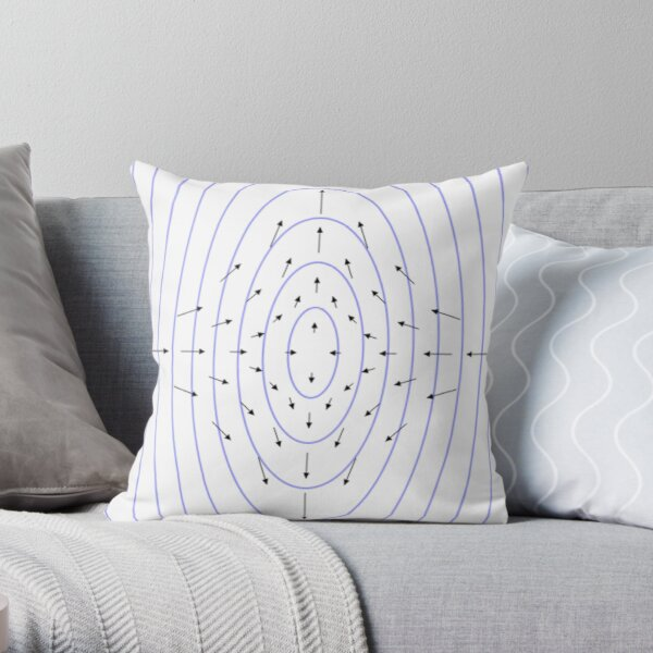 #shape #pattern #abstract #design illustration vortex futuristic modern Throw Pillow