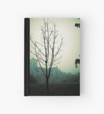 foggy autumn morning at the cathedral Hardcover Journal
