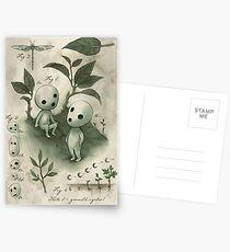 Histoire naturelle - Études de l'esprit des forêts Cartes postales