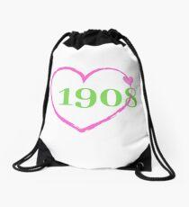 1908 Heart Drawstring Bag