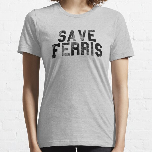 Save Ferris- Black Weathered Logo Essential T-Shirt