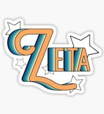 Retro Zeta Sticker
