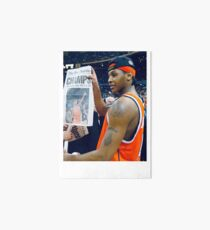 Carmelo Anthony Stay Melo Art Board Print