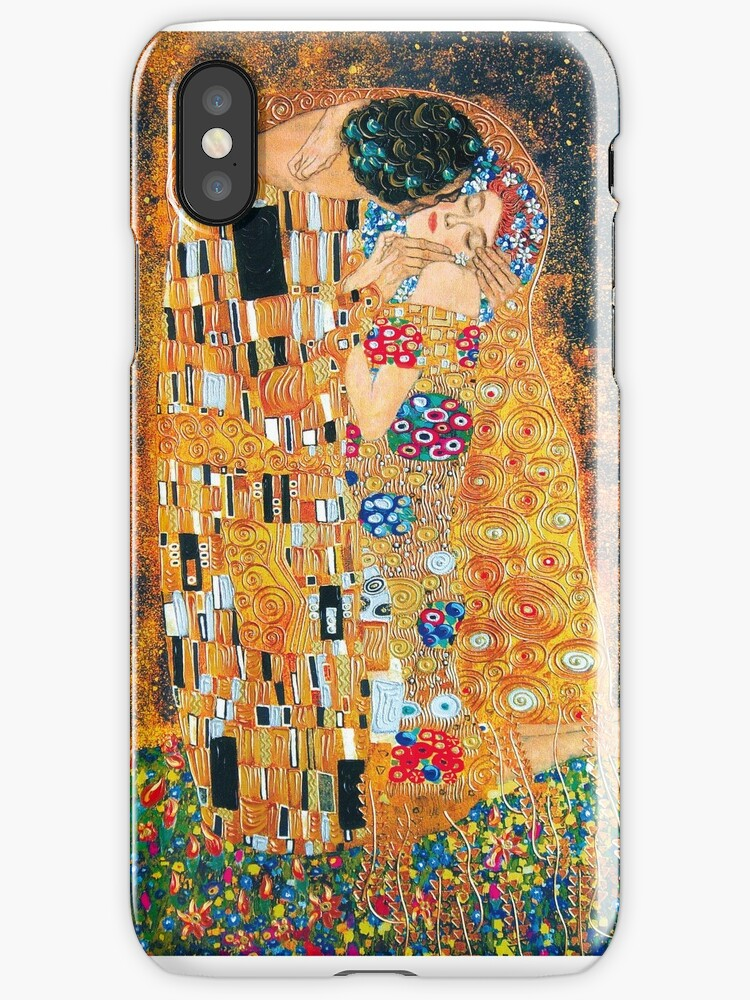Vinilos y fundas para iPhone «Gustav Klimt - El beso» de Selfcontrol ...