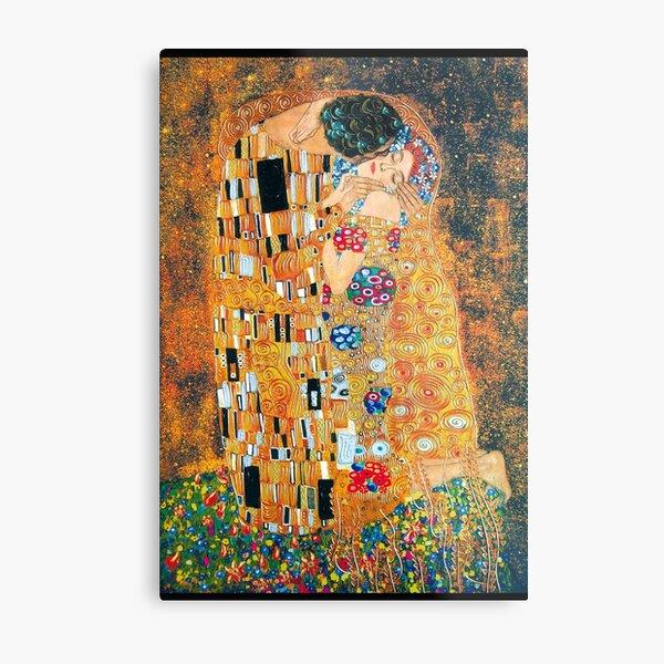 Gustav Klimt - The kiss  Metal Print