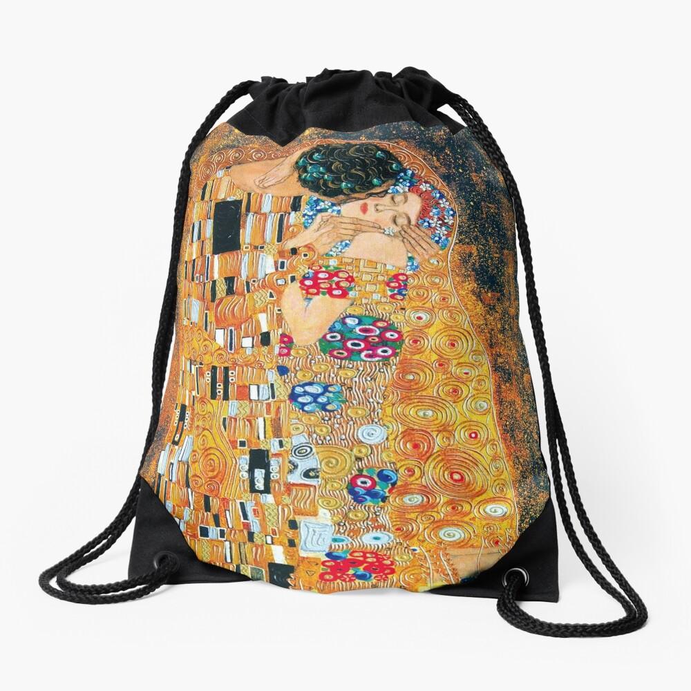 Gustav Klimt - The kiss  Drawstring Bag