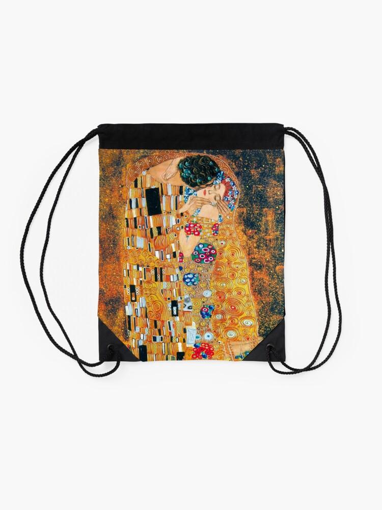Alternate view of Gustav Klimt - The kiss  Drawstring Bag
