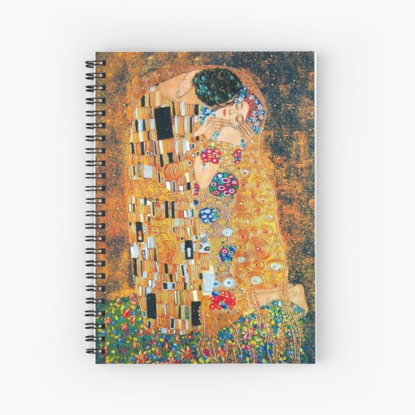 Gustav Klimt - The kiss  Spiral Notebook