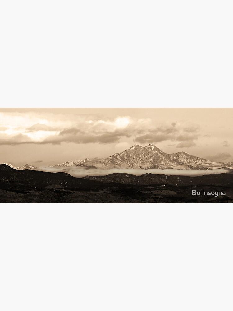 Meeker - Longs Peak - Sepia Panorama by mrbo