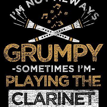 Clarinet Bad mood by GeschenkIdee
