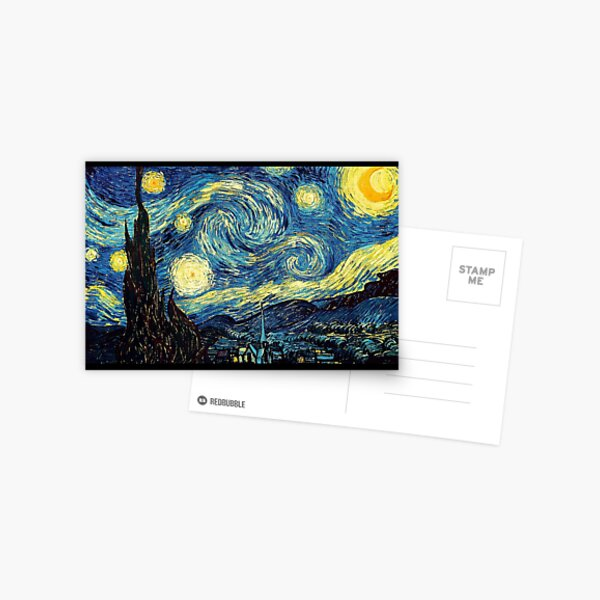 Vincent Van Gogh - Starry night  Postcard