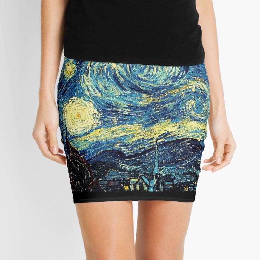 Vincent Van Gogh - Starry night  Mini Skirt