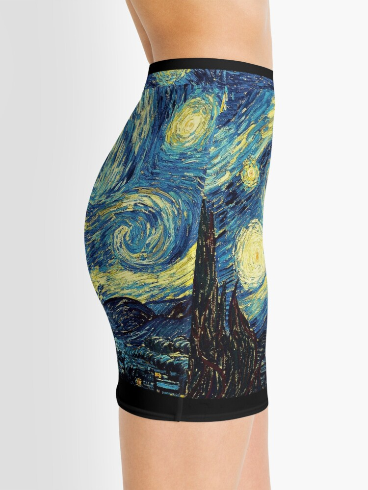 Alternative Ansicht von Vincent Van Gogh - Sternennacht Minirock