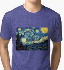 Vincent Van Gogh - Starry night  Tri-blend T-Shirt
