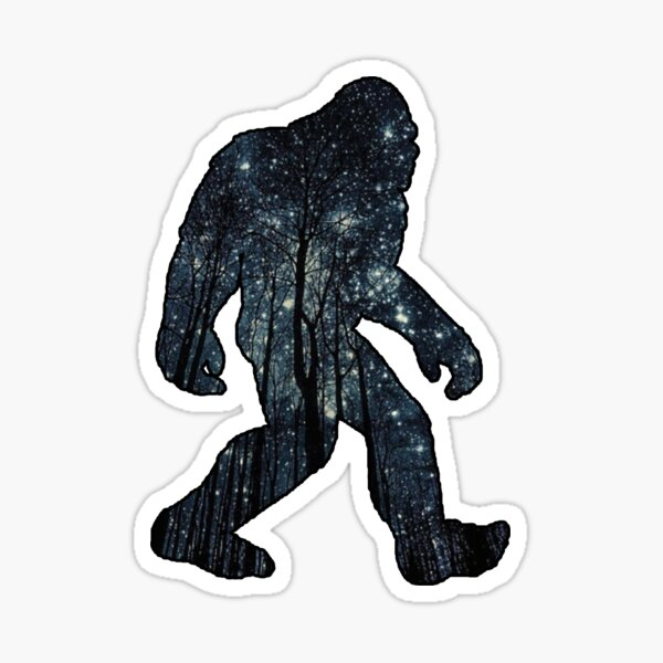 Bigfoot - Stars Sticker