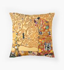 Gustav Klimt - The tree of life Throw Pillow