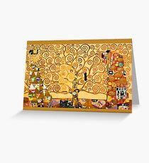 Gustav Klimt - The tree of life Greeting Card