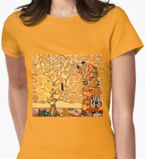 Gustav Klimt - The tree of life Women's Fitted T-Shirt