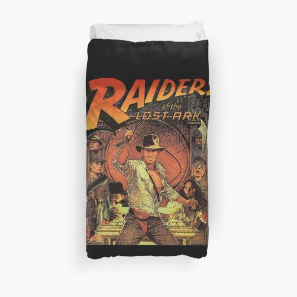 funny raider movies Duvet Cover