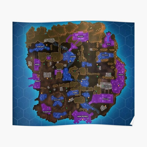 Apex Legends Map - King's Canyon Poster