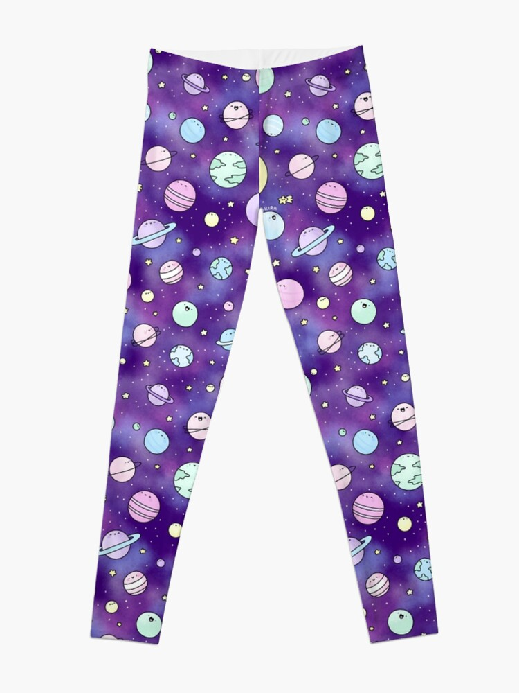 Alternate view of Need Some Space! Kawaii Galaxy Doodle Leggings