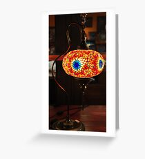 Mosaic Lamp Greeting Card