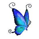 Aqua Blue Butterfly Colored Pencil Art by GypseaDesigns